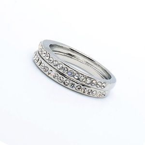 Alicia silver diamond CZ band white and diamond
